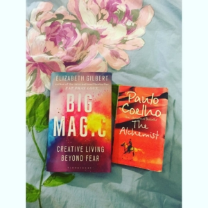 """Read them! I hunted down #bigmagic as soon as it came out on 22/9 and then #thealchemist yesterday (because my flatmate told me to after listening to ramblings it was sitting in the living room... So I did ☀️). ✨✨ """"This is one of the oldest and most generous tricks the universe plays on us human beings, both for its own amusement and for ours: The universe buries strange #jewels deep within us all, and then stands back to see if we can find them. The #hunt to uncover those jewels—that's #creative living"""" ✨✨Why do we have to listen to our hearts?"""" the boy asked.""""Because, wherever your #heart is, that is where you will find your #treasure. ✨✨✨ #alchemy #instinct #intuition #love #destiny #discovery #journey #love #universe #attraction #lawofattraction #ideas #soul #souloftheworld #connection #fear #fearlessness #confidence #blossom #strength #faith #frank #sense #mirth ✨❤️"""